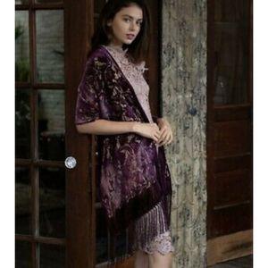 International Concepts Women's Ombré Floral Velvet